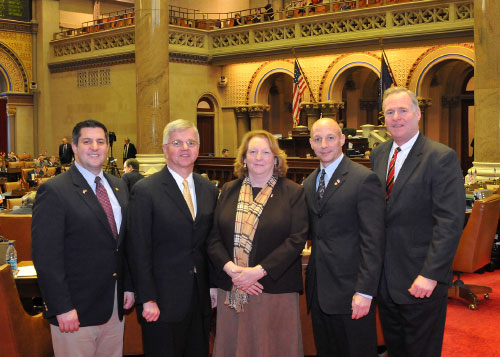New York State Assemblymen Thiele, Losquadro, Murray, and Fitzpatrick met with Suffolk County Legislator Browning in Albany to discuss sober homes.