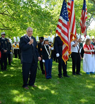 On Memorial Day, it was an honor to be asked to say a few words at the Ceremony on the Setauket Village Green before the start of the parade. As the Village Green was the site of the Battle of Setauket and the gravesite of Abraham Woodhull, leader of the Setauket Culper Spy ring, was just behind the Setauket Presbyterian Church, my remarks began with remembering the first veterans who gave their lives for our country. Many, many have fought and died in the centuries since, and we hold in our hearts the memory of them all, both the named and the unknown.
