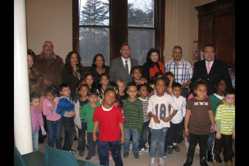 Assemblyman Ramos presents children from Shepherd's Gate Academy in Brentwood with gifts in celebration of Three Kings Day. More than 100 children who attend after-school programs at Shepherd's Gate received toys donated by local residents and businesses in celebration of the holiday.