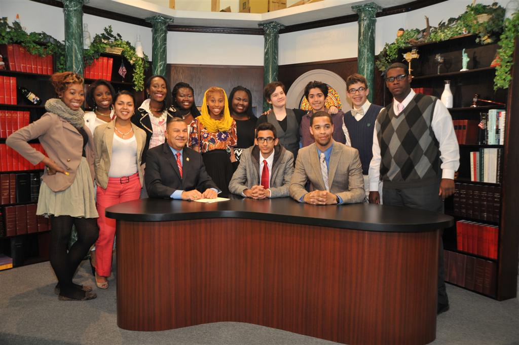 Students from the local EOC-SNAP Division's Leaders of the Future Program (LOTF) were recent guests on Assemblyman Ramos' TV show. Participating students and program director, Charles Fox, had the opportunity to discuss on air the merits of the program with Assemblyman Ramos.