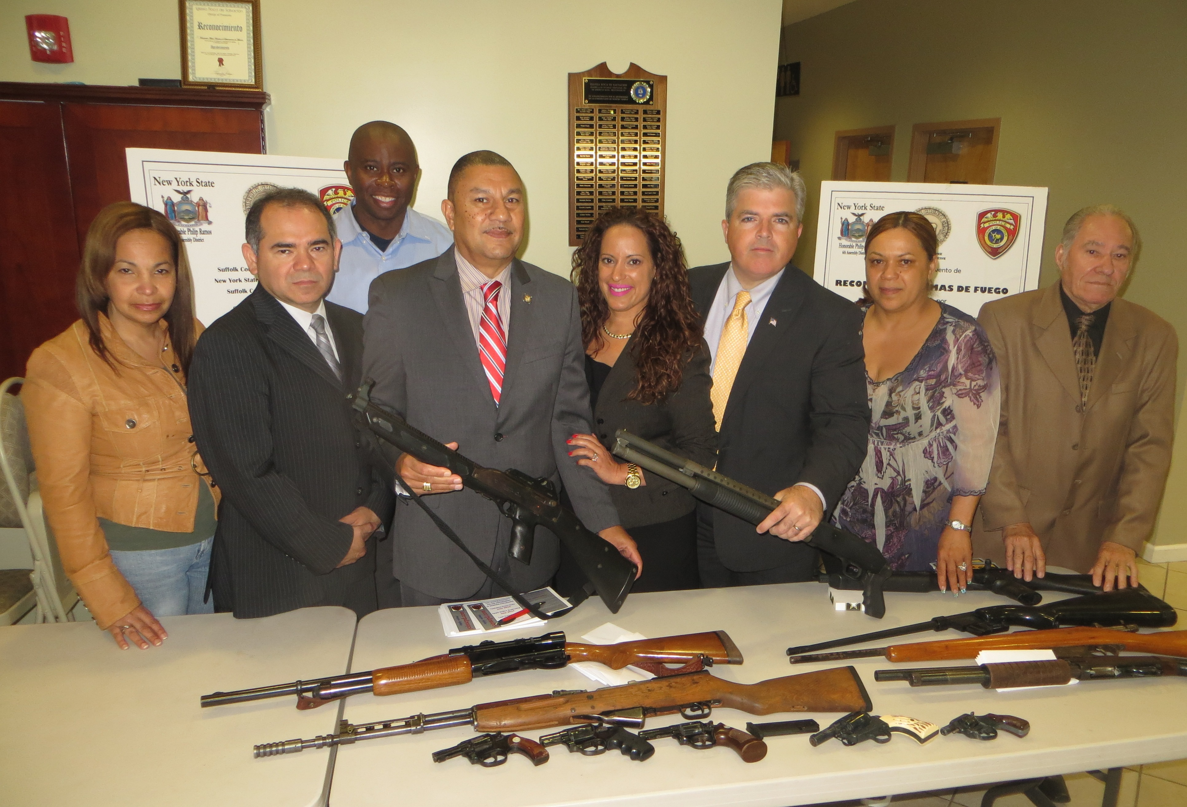 Assemblyman Phil Ramos co-hosted a gun buyback event in conjunction with Suffolk County Executive Steve Bellone, the Suffolk County Police Department and Suffolk County Crime Stoppers. The event took place in Brentwood and helped get numerous guns off the streets of Suffolk County.