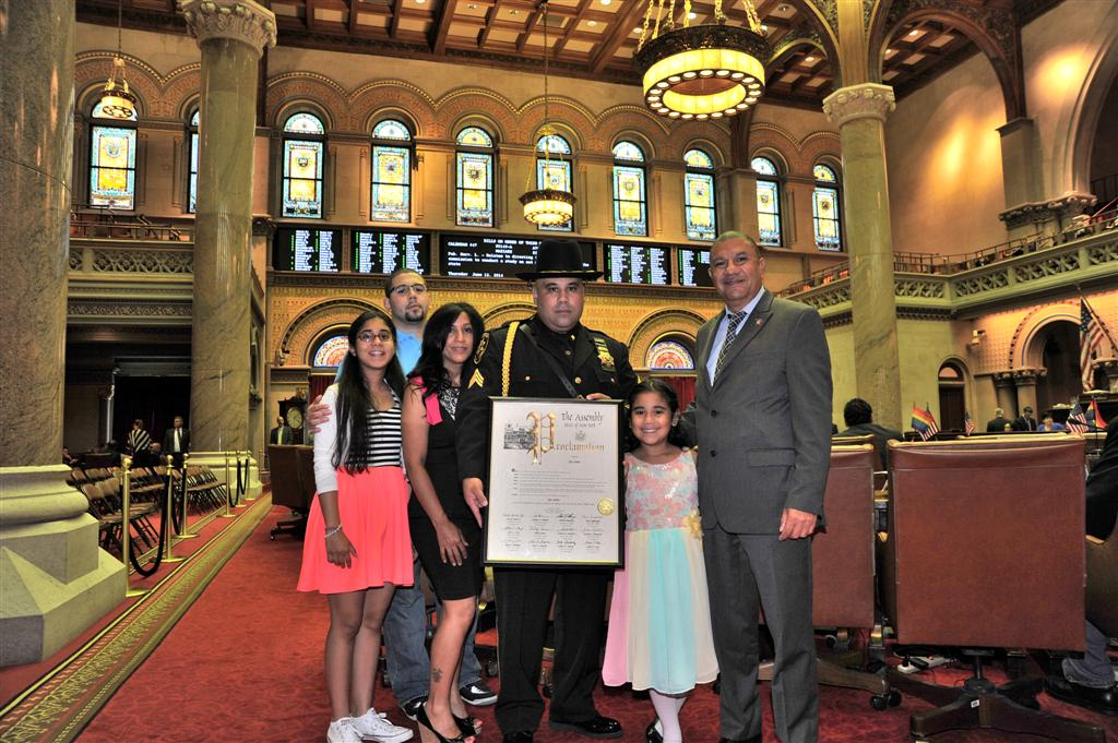 Assemblyman Ramos and the Long Island delegation presented Officer José Nuñez with a proclamation for his dedication to serving the people of Suffolk County and for being a pillar of the community both on and off the force.