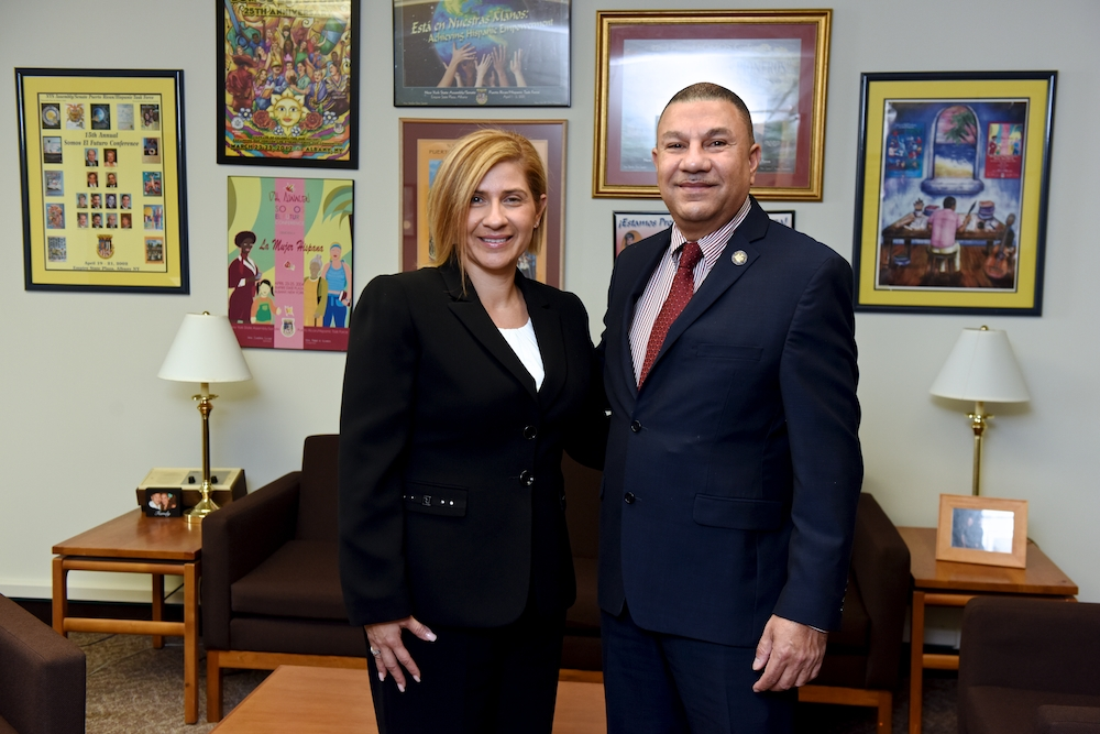 Assemblyman Phil Ramos met with Betty DeSabato, Chairwoman of the Suffolk County Hispanic Advisory Board. As a member of the advisory board, Ms. DeSabato works to i