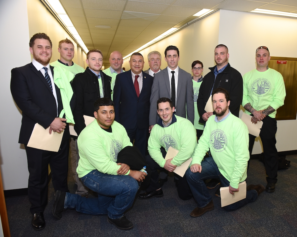 Assemblyman Ramos and members of the NYS Pipe Trade Association who were in Albany lobbying this week.