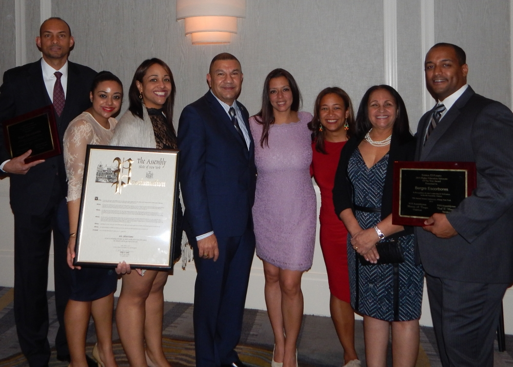 Assemblyman Phil Ramos was proud to present several awards during the 2015 Somos El Futuro conference. Among the recipients were: Roger de los Santos, Education Champion of the Year Award; Bergre Escorbores, Higher Education Advocate of the Year Award; Julissa Ramos, and Award for Exemplary Community Service.