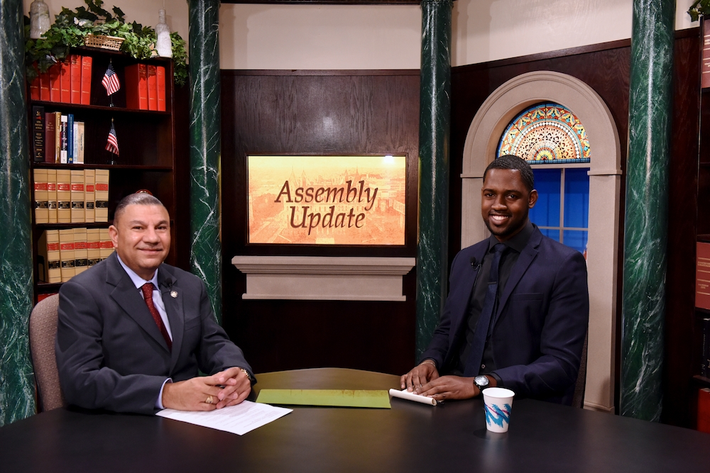 Assemblyman Ramos with his recent Assembly Update guest, Charles Khan of 'Strong for All', discussing the minimum wage increase.  Assembly Update airs Fridays nights at 8:30 pm on Cablevision channel