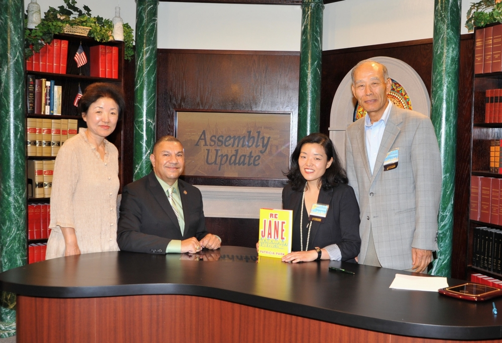 In honor of Asian Heritage Month, Assemblyman Ramos hosts Patricia Park on his cable television show <em>Assembly Update</em>.