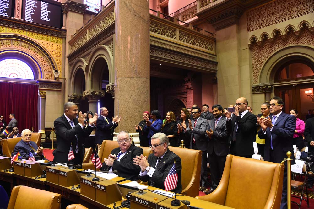 At the commencement of the 2016 Legislative Session, Assemblyman Ramos invited a group of community leaders from his district to be part of the opening of session.