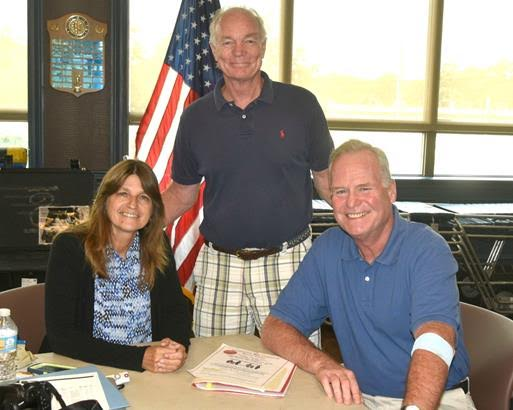 Pictured with Assemblyman Fitzpatrick (right) is Rosalie Hanson from the Assembly Minority Long Island Regional office (left) and Assistant Chief Bob Wind of the Hauppauge Fire Department (center) who