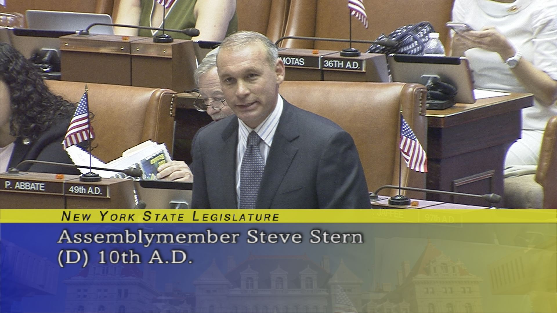 Assemblyman Stern Introduces Rabbi Howard Buechler