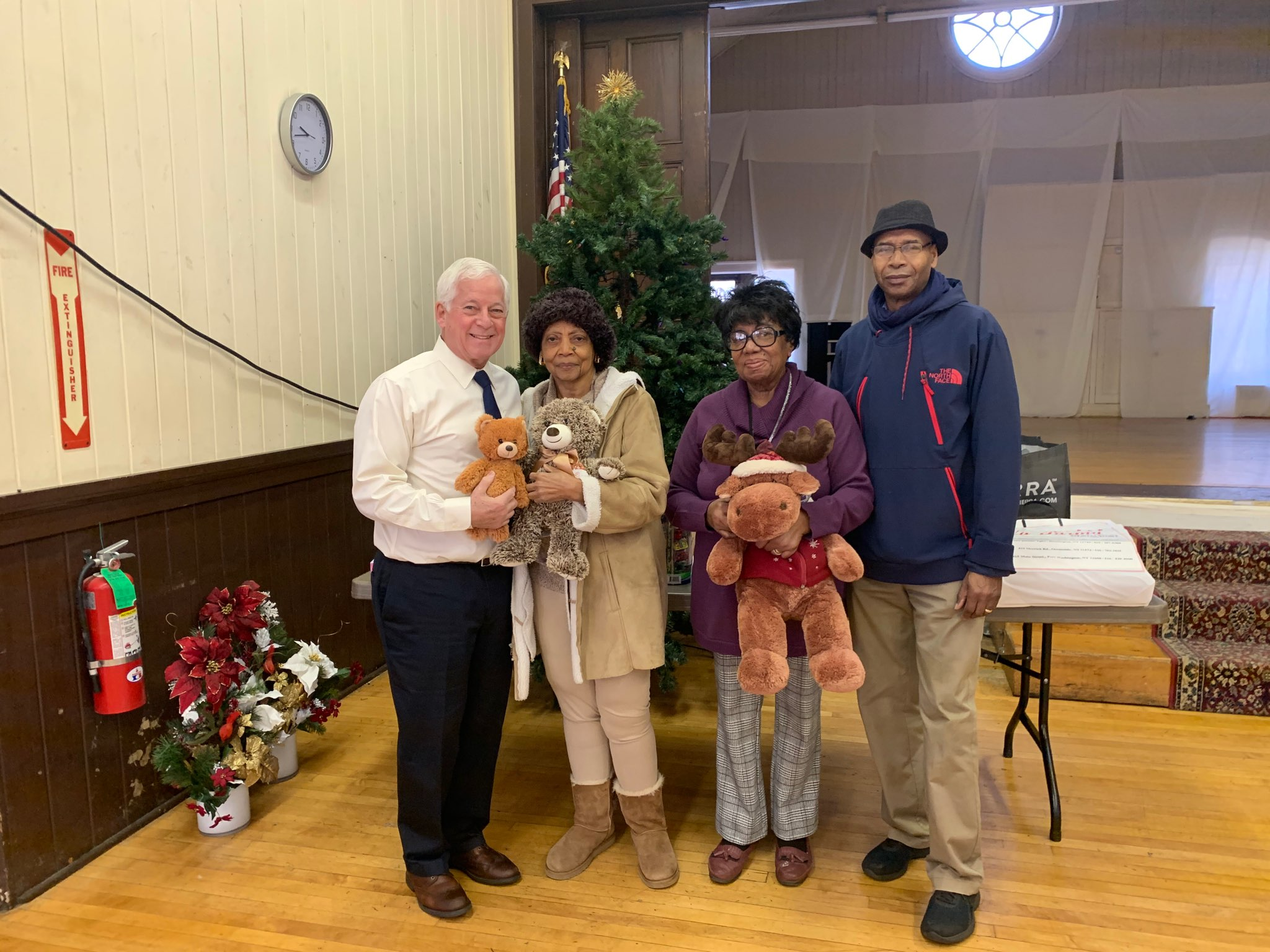Assemblymember Lavine delivers toys to the Church of the Advent in Westbury in December. Constituents and community groups donated over 400 toys to the District Office and collection boxes at local li