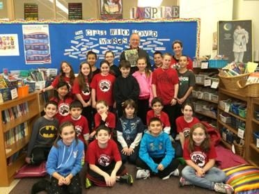 "Assemblyman Dave McDonough read ""As Good As Anybody"" as part of the PARP Olympics at Norman J. Levy Lakeside Elementary School."