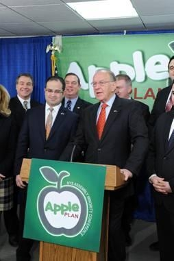 Assemblyman Dave McDonough joins his Assembly Minority colleagues during a press conference unveiling the APPLE plan.
