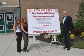 Assemblyman McDonough joins Emily and Anna Lawrence, co-founders of STANND.
