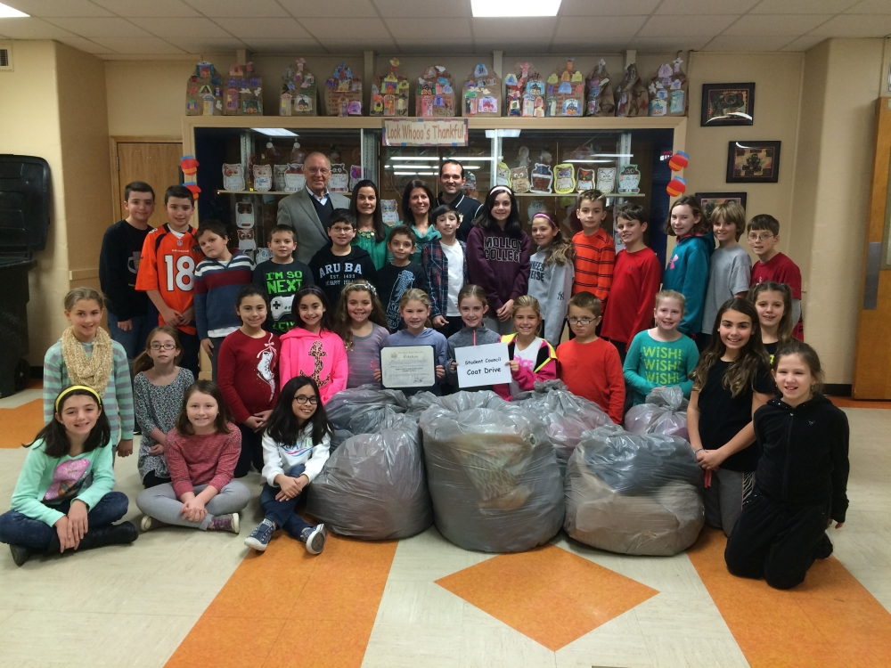 Assemblyman David McDonough presented a New York State Assembly Citation to the Student Council of Forest Lake Elementary School for the outstanding job they did in collecting coats for his 12th Annual Coats for Kids Campaign. These students collected over 200 coats and are to be commended for their hard work.