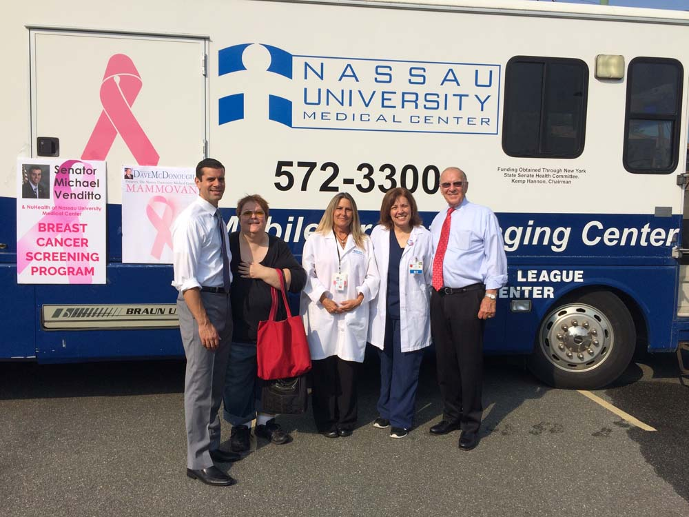 Senator Michael Venditto and I sponsored a mobile mammogram van at the Merrick Library on September 3, 2015. I want to thank NuHealth for providing the van and technologist for this important informat