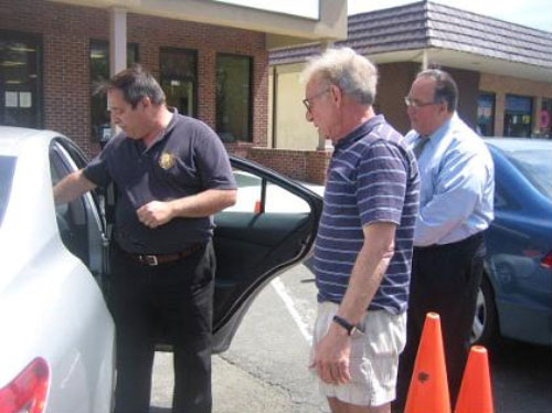 Montesano Holds Car Seat Safety Check