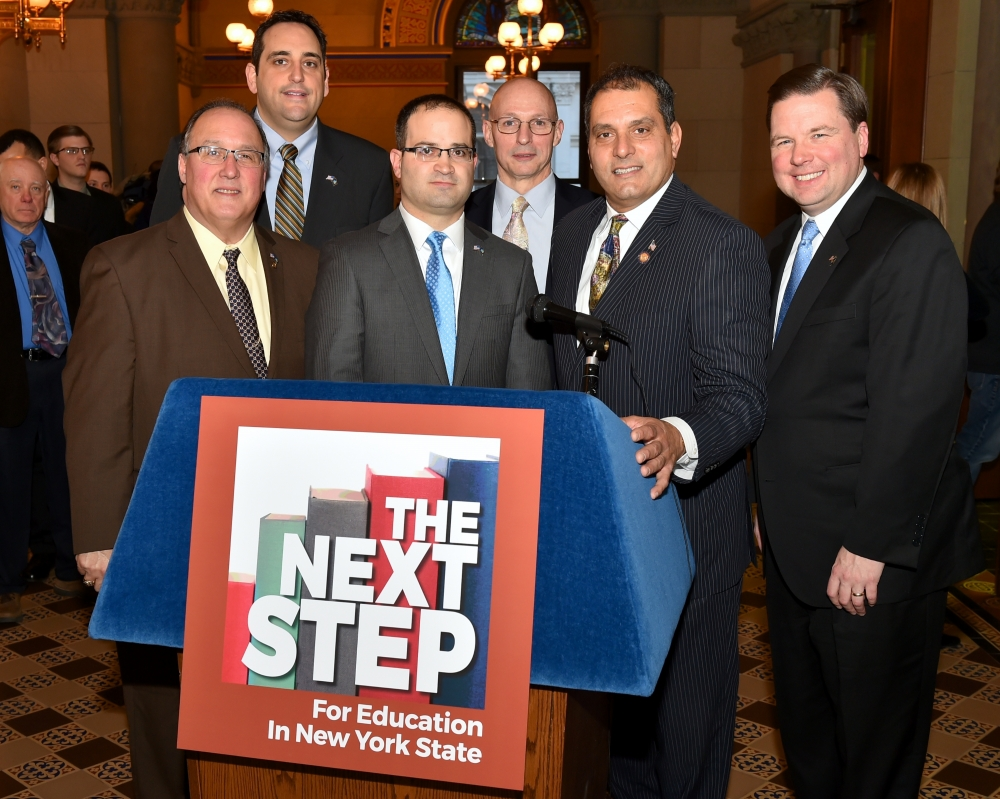 Assemblyman Michael Montesano joins members of the Assembly Minority Conference to roll out their 2016 Education Agenda.