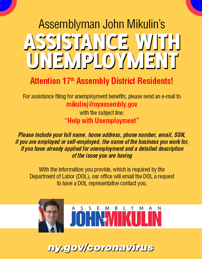 Assistance With Unemployment
