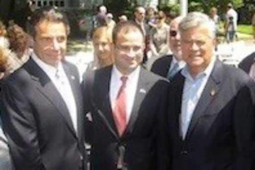 Assemblyman Ra joins Governor Andrew Cuomo and State Senate Majority Leader Dean Skelos at the signing of the property tax cap.