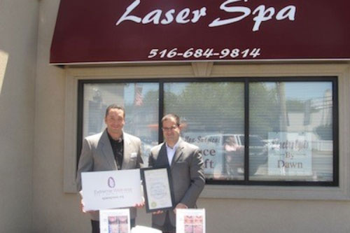 Open for business! Assemblyman Ra welcomes Laser Spa in Franklin Square.