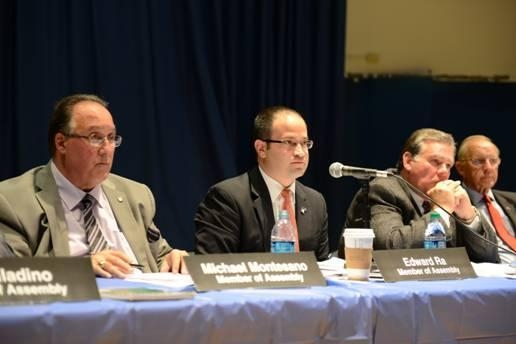 Assemblyman Michael Montesano, Assemblyman Ed Ra, Assemblyman Al Graf and Assemblyman David McDonough during their October 24 public forum on New York's Common Core curriculum and standards.