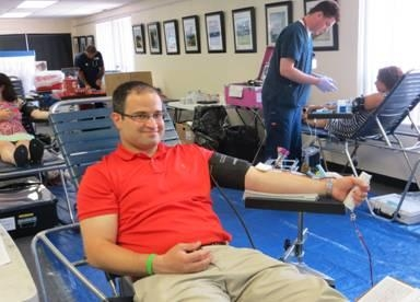 Assemblyman Ed Ra does his part by donating blood at his community Blood Drive held on July 21.