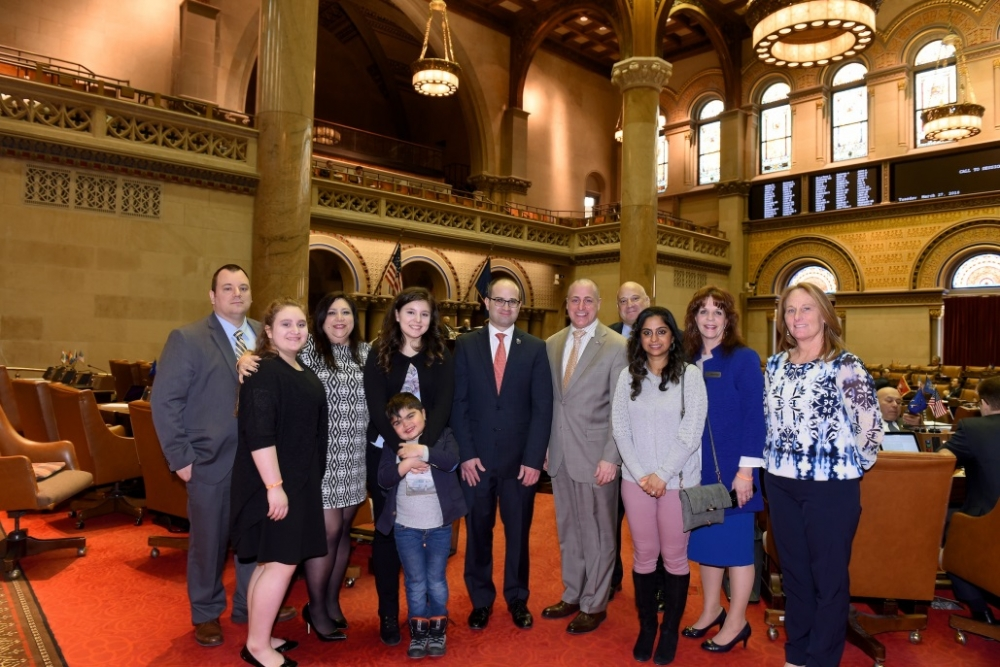 Assemblyman Ed Ra (R-Franklin Square) and Assemblyman Brian Curran (Lynbrook-21st AD) were joined by volunteers and representatives from NephCure Kidney International on March 27 to celebrate passage