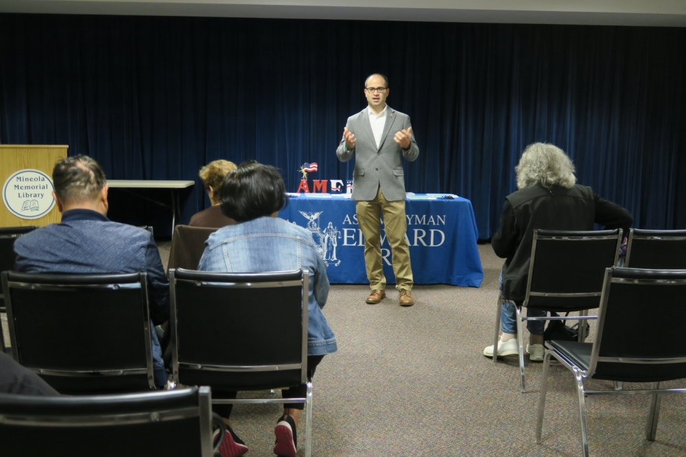 Assemblyman Ed Ra (R-Franklin Square) hosted a Healthcare Fraud Prevention Seminar on Saturday, April 28 to help seniors learn how to avoid scams and fraud.