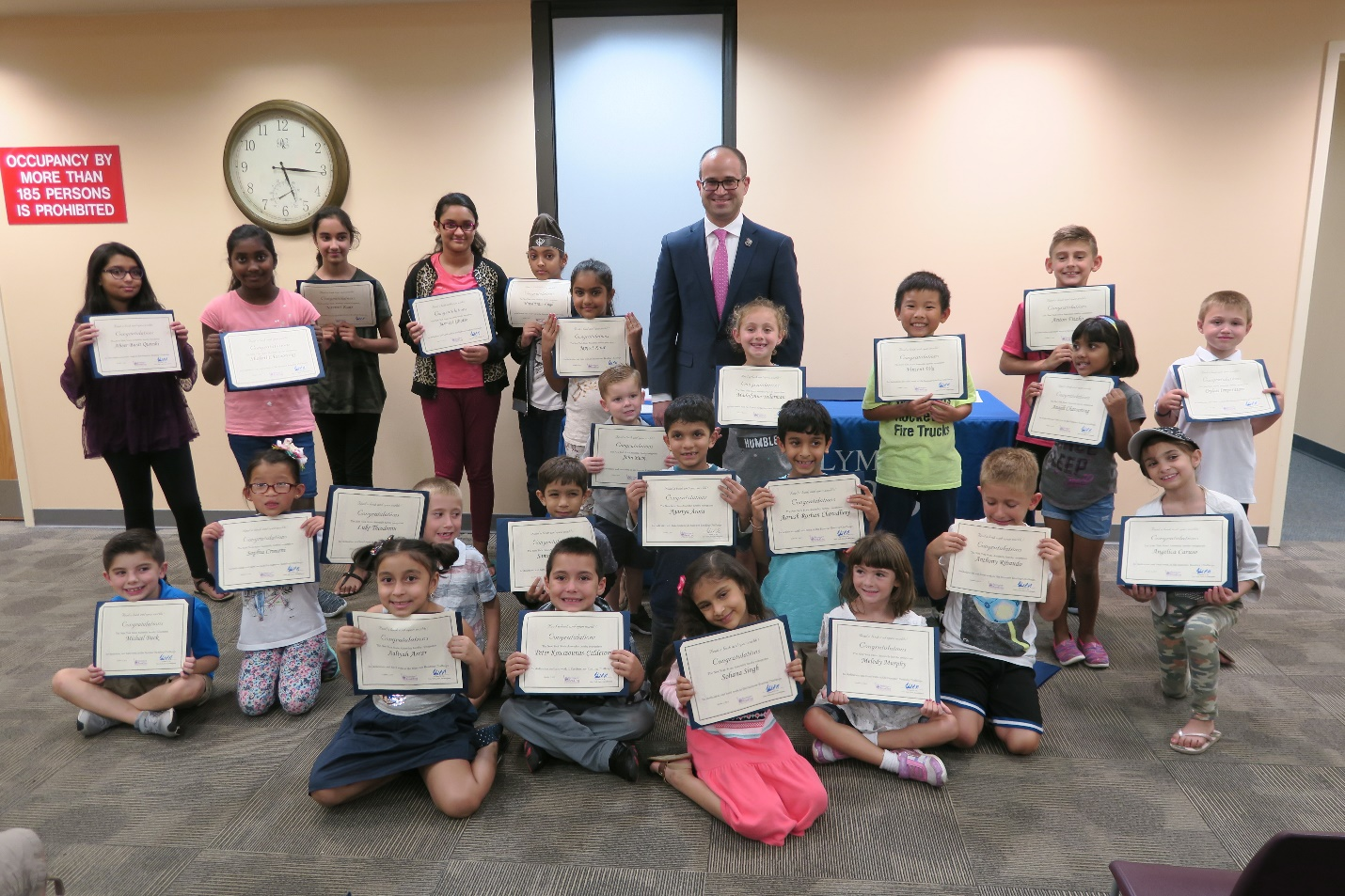 Assemblyman Ed Ra (R-Franklin Square) hosted a celebration for the local students who completed the New York State Assembly 2018 Summer Reading Challenge at the Hillside Public Library on Tuesday, Oc