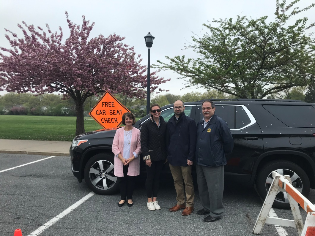 Pictured from left to right: Cathedral Nursery School Director Ms. Diane Cina, Parent/Attendee Mrs. Leanne Clark, Assemblyman Ed Ra and Nassau County Traffic Safety Coordinator Christopher M. Mistron.