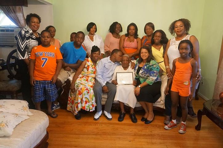 Assemblywoman Solages celebrates Elmont resident's 100th birthday