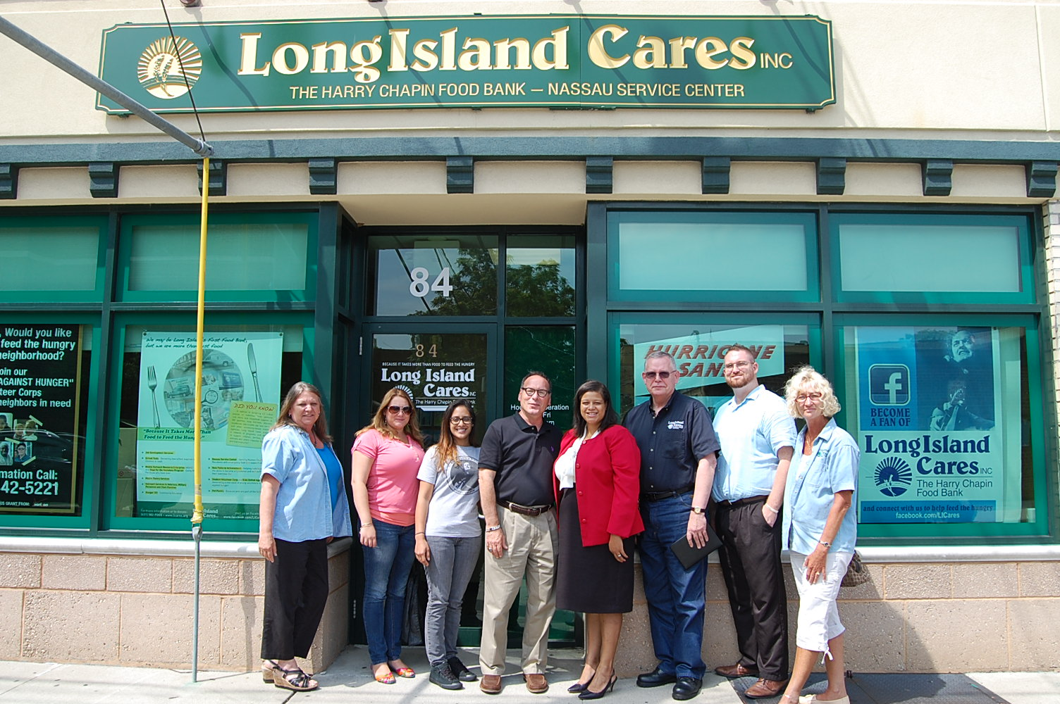 Assemblywoman Solages tours the Long Island Cares facility.
