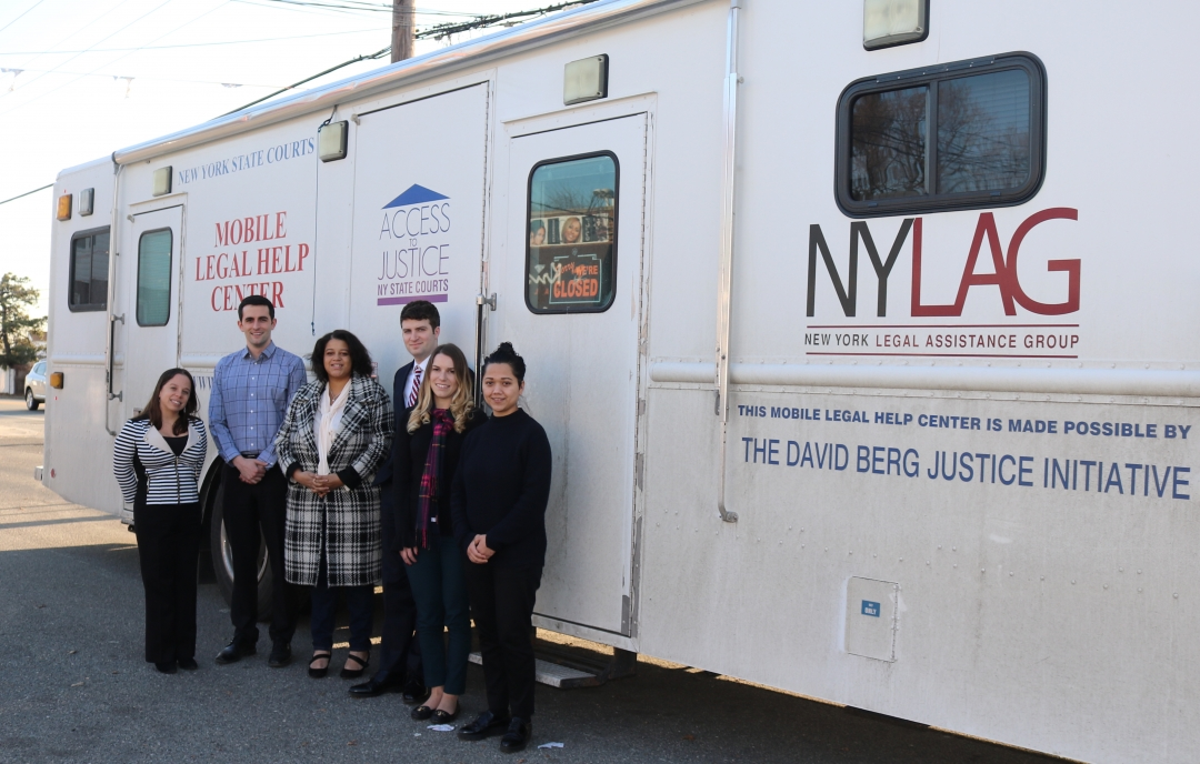 Assemblywoman Solages sponsored the New York Legal Assistance Group's Mobile Legal Help Center. Staff aboard the Mobile Legal Help Center helps to provide FREE legal assistance on several civil