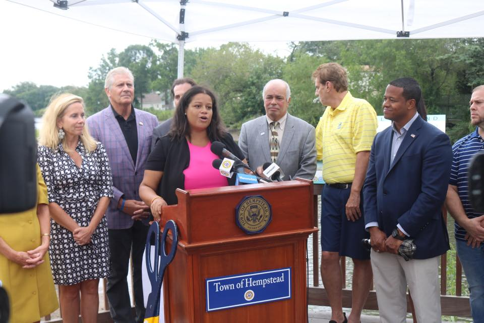 Path to the Park Project: Assemblywoman Solages is joined by Lieutenant Governor Kathy Hochul and Town of Hempstead officials to highlight the completion of a 3.8 million sustainable infrastructure pr