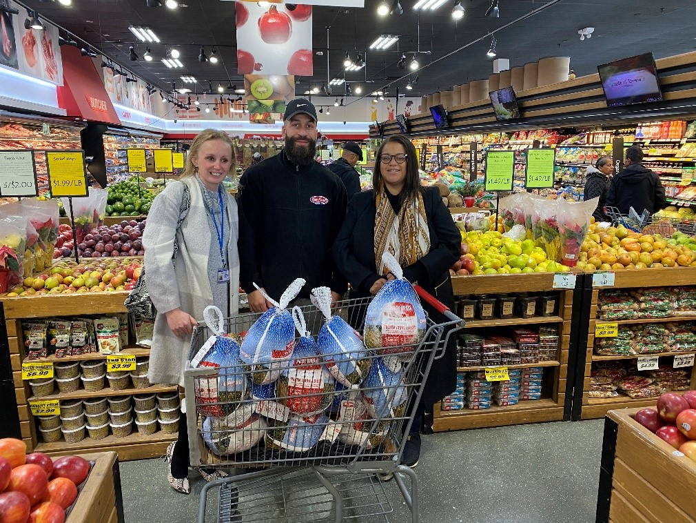 The Key Food of Valley Stream Donates Food and Supplies for Assemblywoman Solages' annual Thanksgiving Drive.