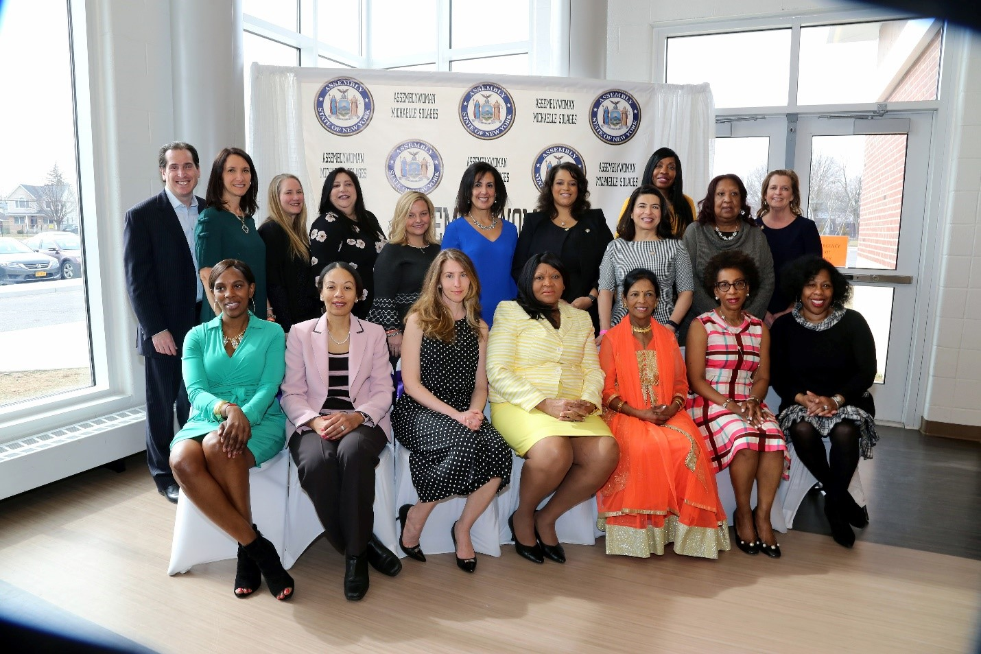 Assemblywoman Solages honors a group of the dynamic woman from the 22nd Assembly District for the 2019 Women of Distinction Ceremony at Sewanhaka High School.