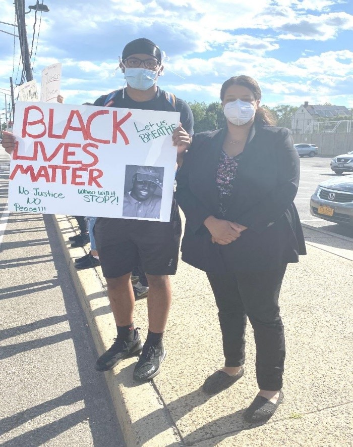 Assemblywoman Solages stands in solidarity with the black lives matter protests.