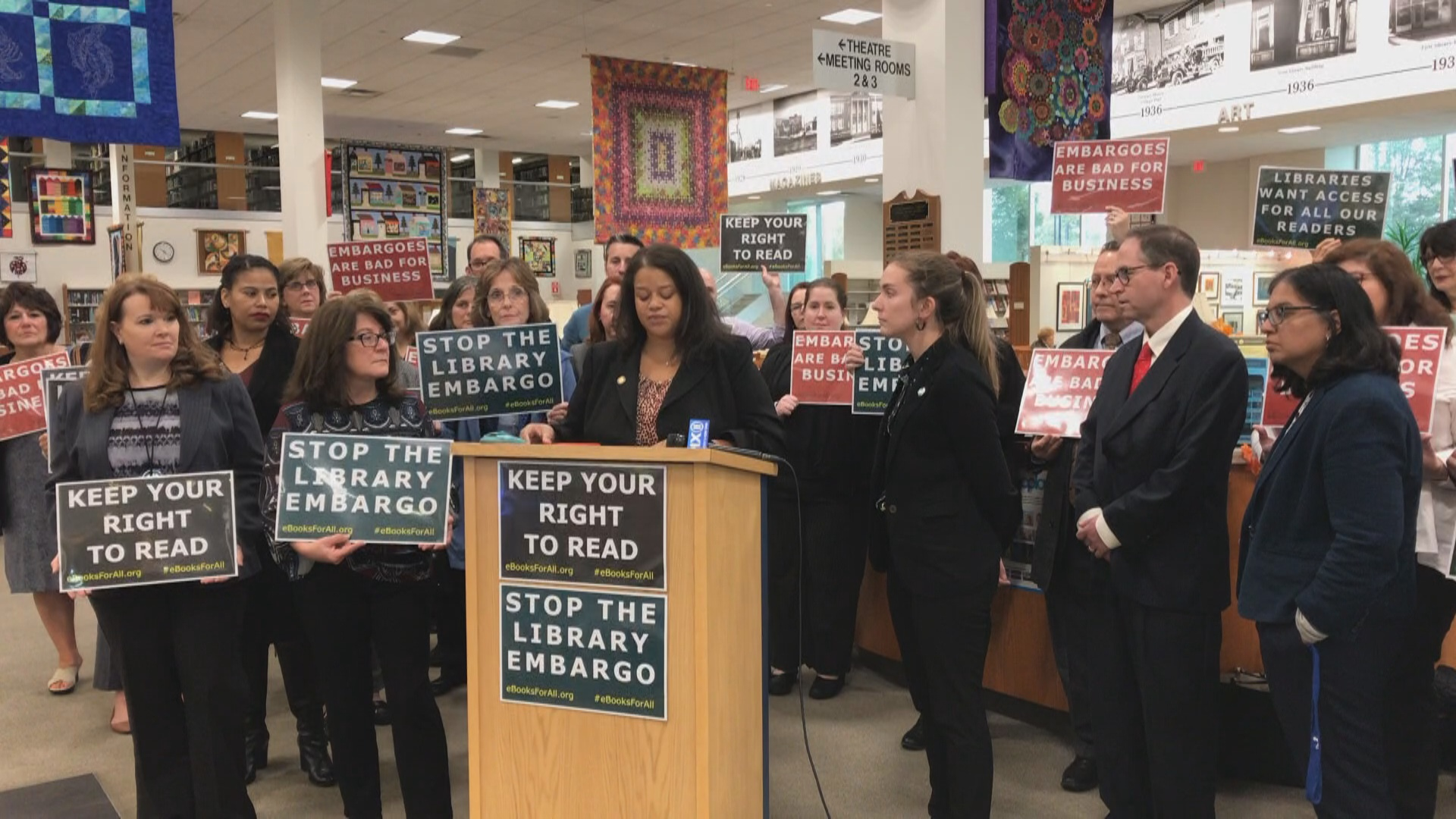 Solages Joins LI Library Leaders & Advocates to Denounce New e-book Licensing Model