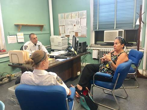 Assemblywoman Stacey Pheffer Amato (D-Far Rockaway) met this past Friday, July 28th, with the Commanding Officer of the New York Police Department 101st Precinct, Captain Vincent J. Tavalaro.  Pheffer