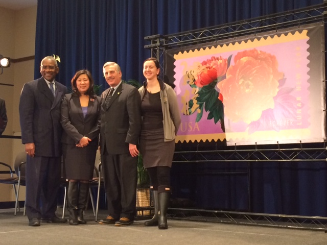 Assemblyman David Weprin with Congresswoman Grace Meng, Congressman Gregory Meeks, and Assemblywoman Nily Rozic joined the USPS at St. John's University to launch a Lunar New Year stamp in commemorati