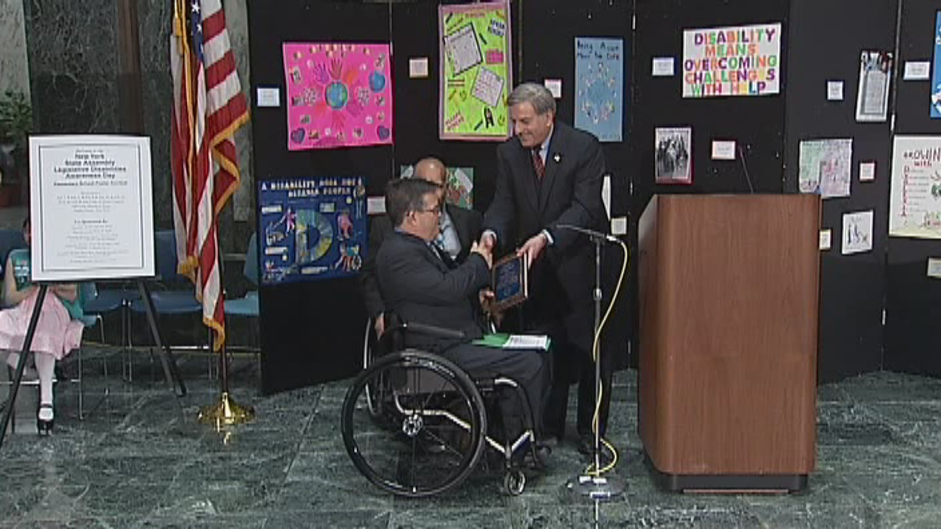Assemblyman Weprin Honors 2014 Legislative Disabilities Awareness Day Recipient