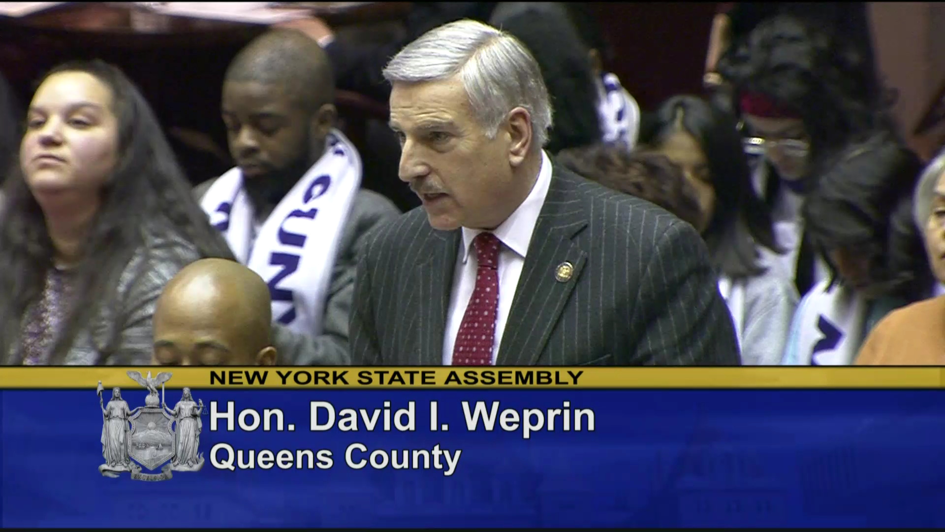 Weprin Stands in Remembrance of the Holocaust
