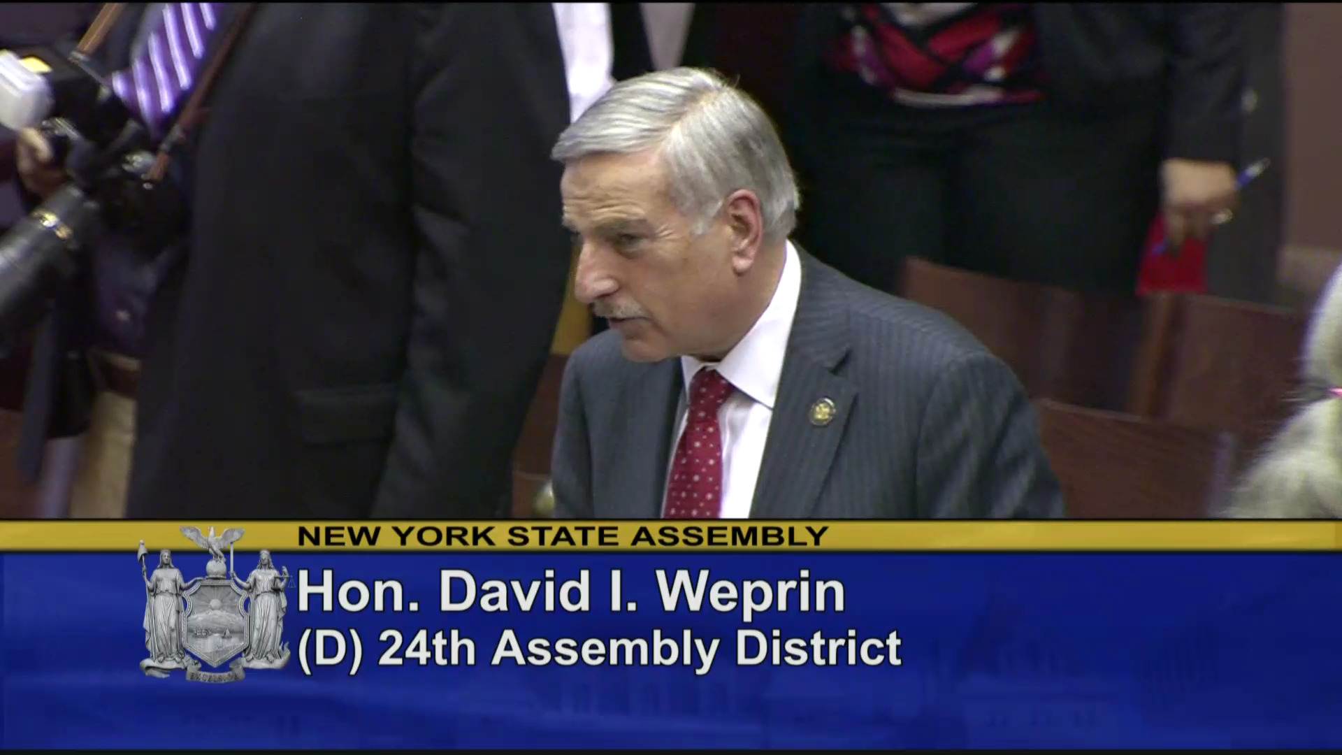 Weprin Votes in Favor of Alice's Law