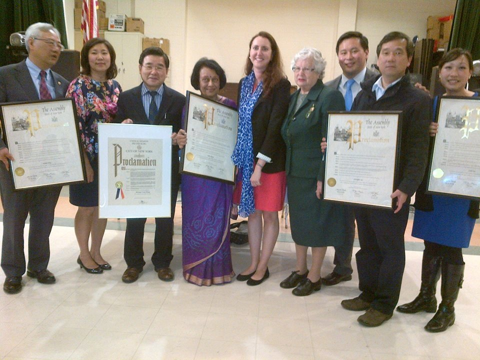 Assemblywoman Nily Rozic, State Senator Toby Ann Stavisky, Assemblymember Ron Kim, and Council Member Peter Koo celebrated Asian American Pacific Islander Heritage by recognizing community leaders for