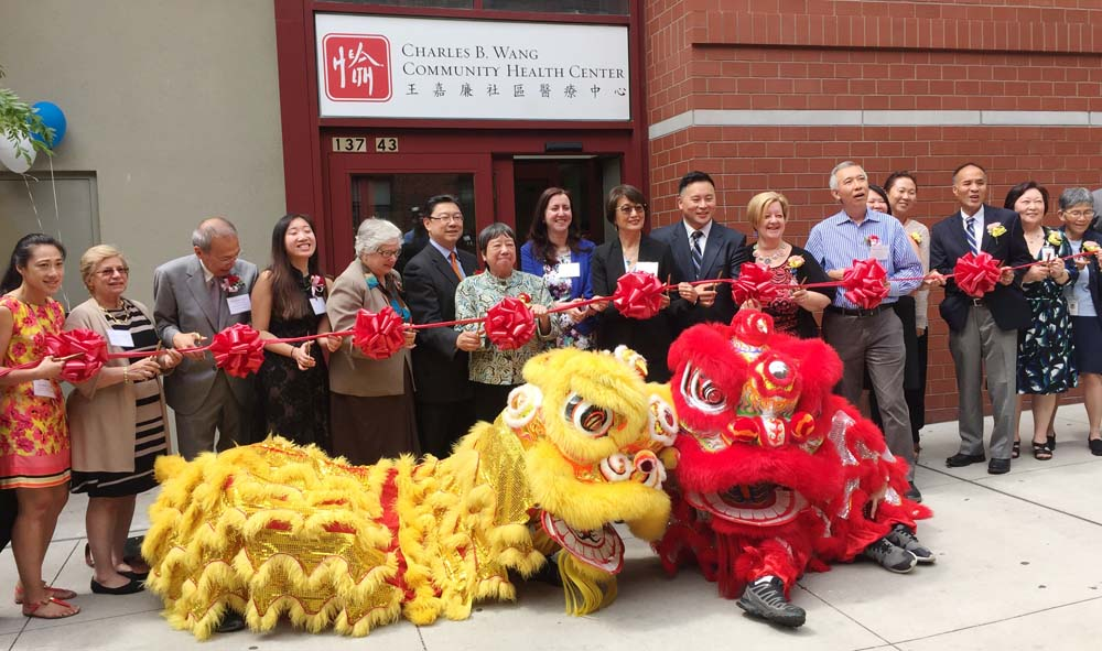 Assemblywoman Nily Rozic attended the ribbon cutting ceremony for the grand opening of Charles B. Wang's Community Health Center.<br />