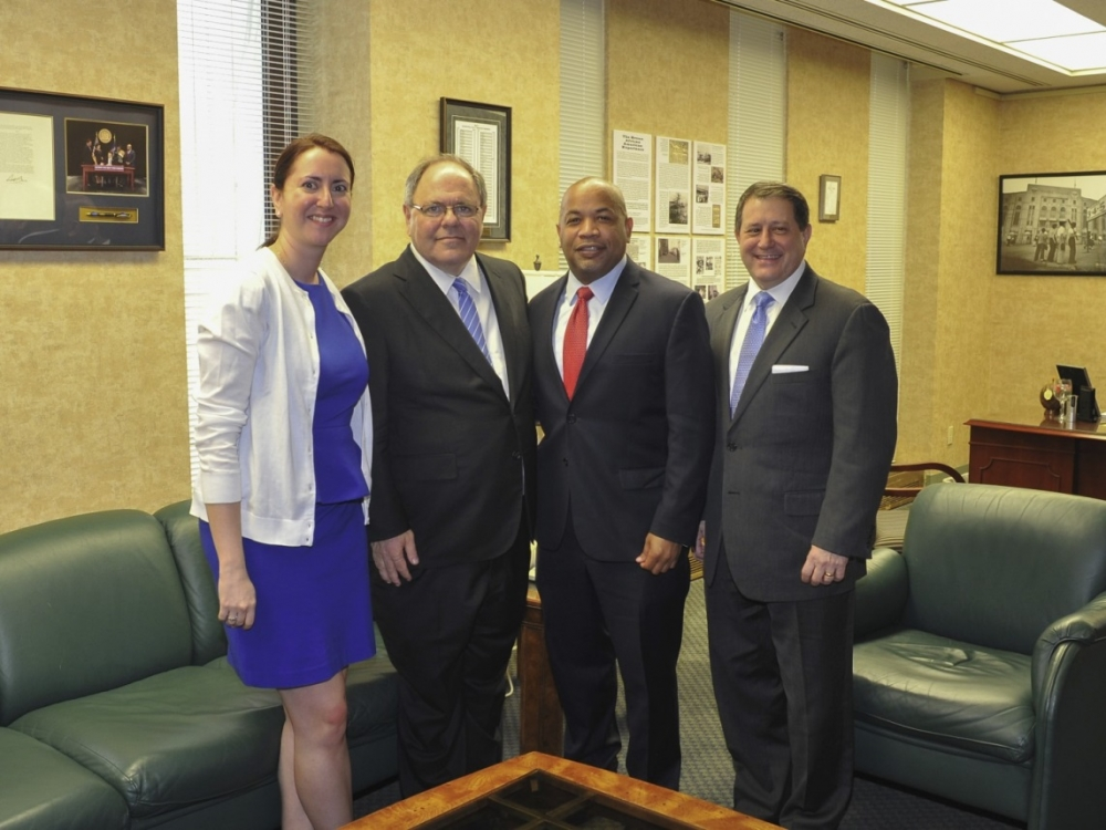 Assemblywoman meets with Nily Rozic with Ambassador Dani Dayan, Assembly Speaker Carl E. Heastie, and Majority Leader Joseph D. Morelle.