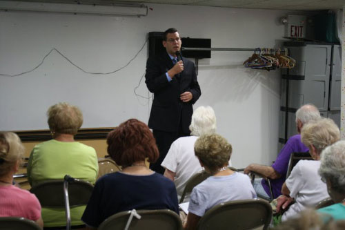 On July 27, 2011, Assemblyman Braunstein visited the Clearview Assistance Program and provided the members of the senior center with a legislative update.