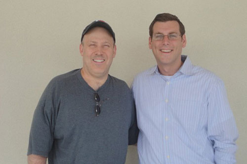 On Saturday, August 6, 2011, Assemblyman Braunstein hosted his second Mobile District Office at the Key Food in the Whitestone Shopping Center, pictured here with constituent Mark McInerney.