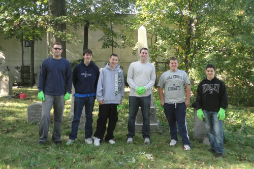 On Saturday, October 22, 2011, Assemblyman Braunstein hosted a cleanup of Lawrence Cemetery with Bayside Historical Society. Volunteers included students from Holy Cross High School.